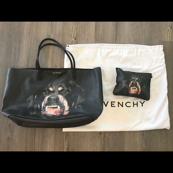 822570ed6494 Givenchy Handbags - givenchy antigona rottweiler tote bag w  clutch